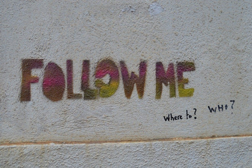 follow me graffiti